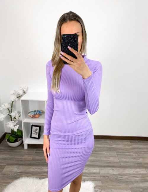 Lilla bodycon kleit